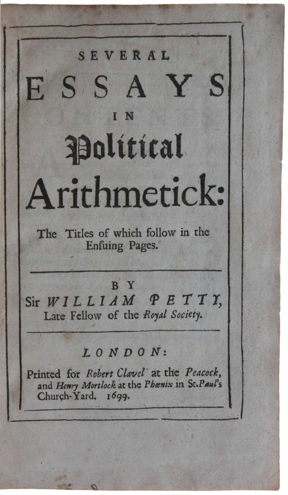Vialibri  Several Essays In Political Arithmetick The Titles Of  Vialibri  Several Essays In Political Arithmetick The Titles Of Which  Follow In The Ensuing Pages