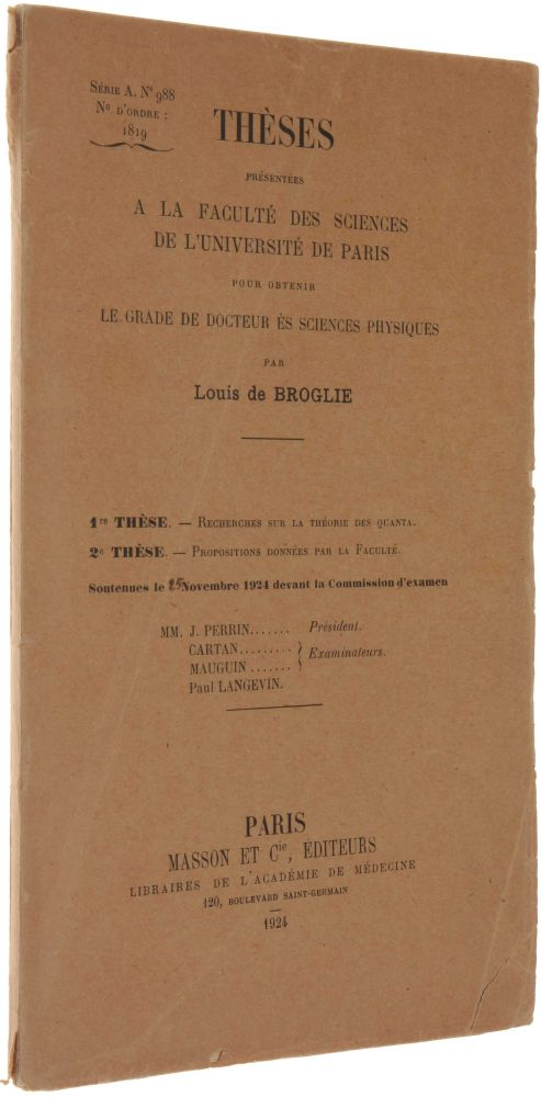 louis de broglie thesis
