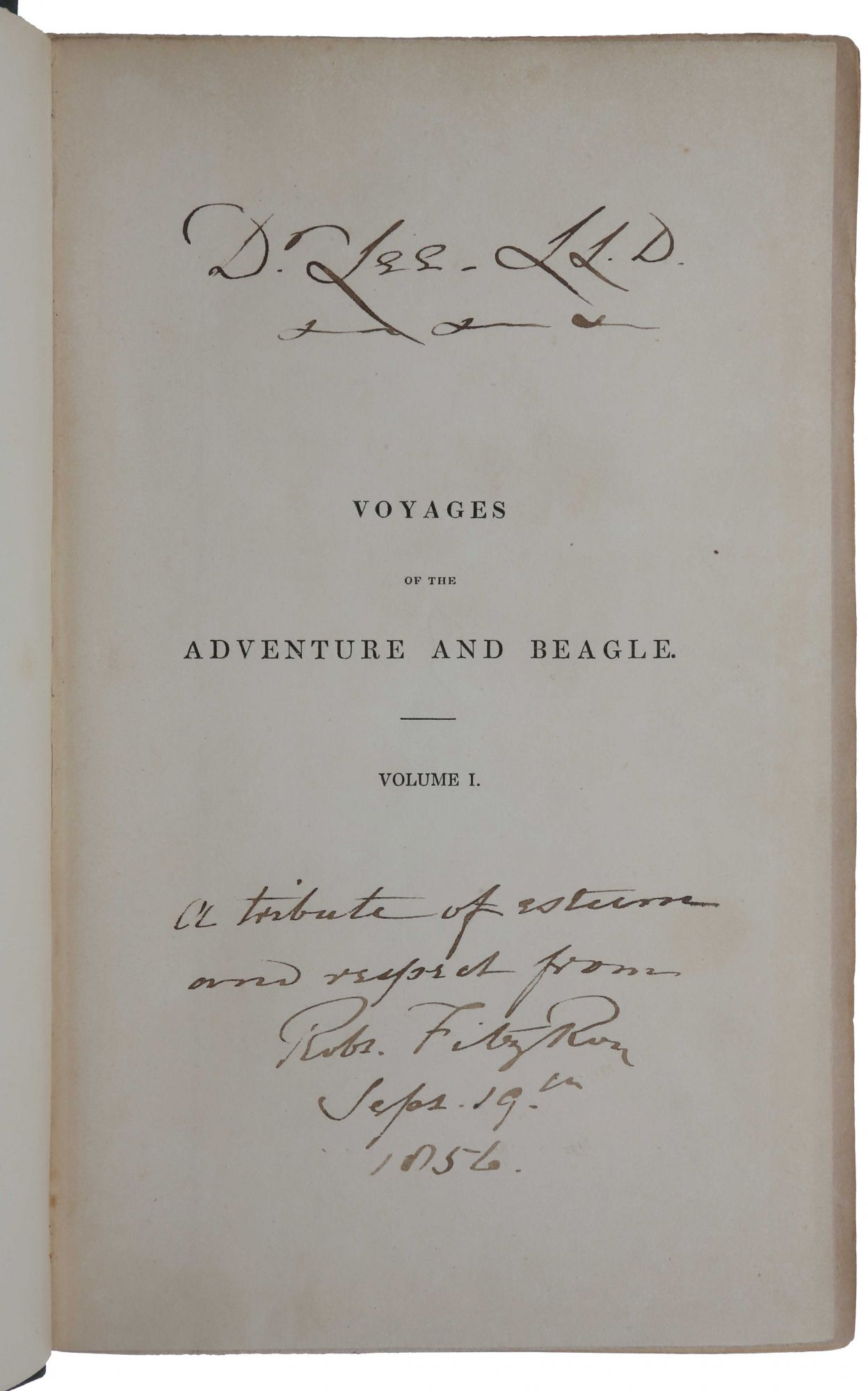 Narrative of the Surveying Voyages of His Majesty's Ships Adventure and Beagle, between the Years 1826 and 1836, describing their Examination of the Southern Shores of South America, and the Beagle's Circumnavigation of the Globe. Charles DARWIN, Robert FITZROY.