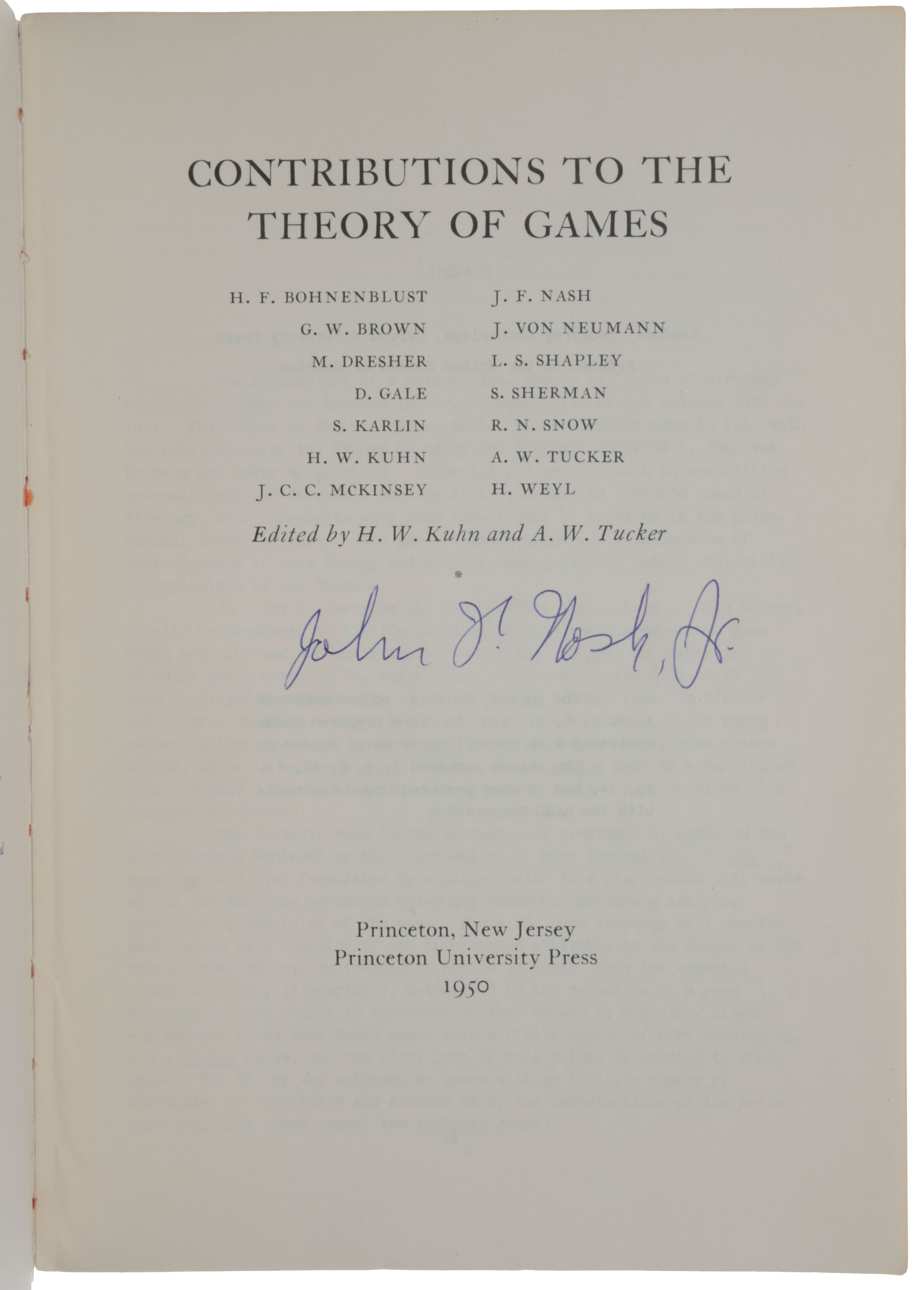 'A simple three-person poker game,' pp. 105-116 in: Contributions to the Theory of Games, Volume I. Annals of Mathematics Series, No. 24. John Forbes NASH, Lloyd SHAPLEY.