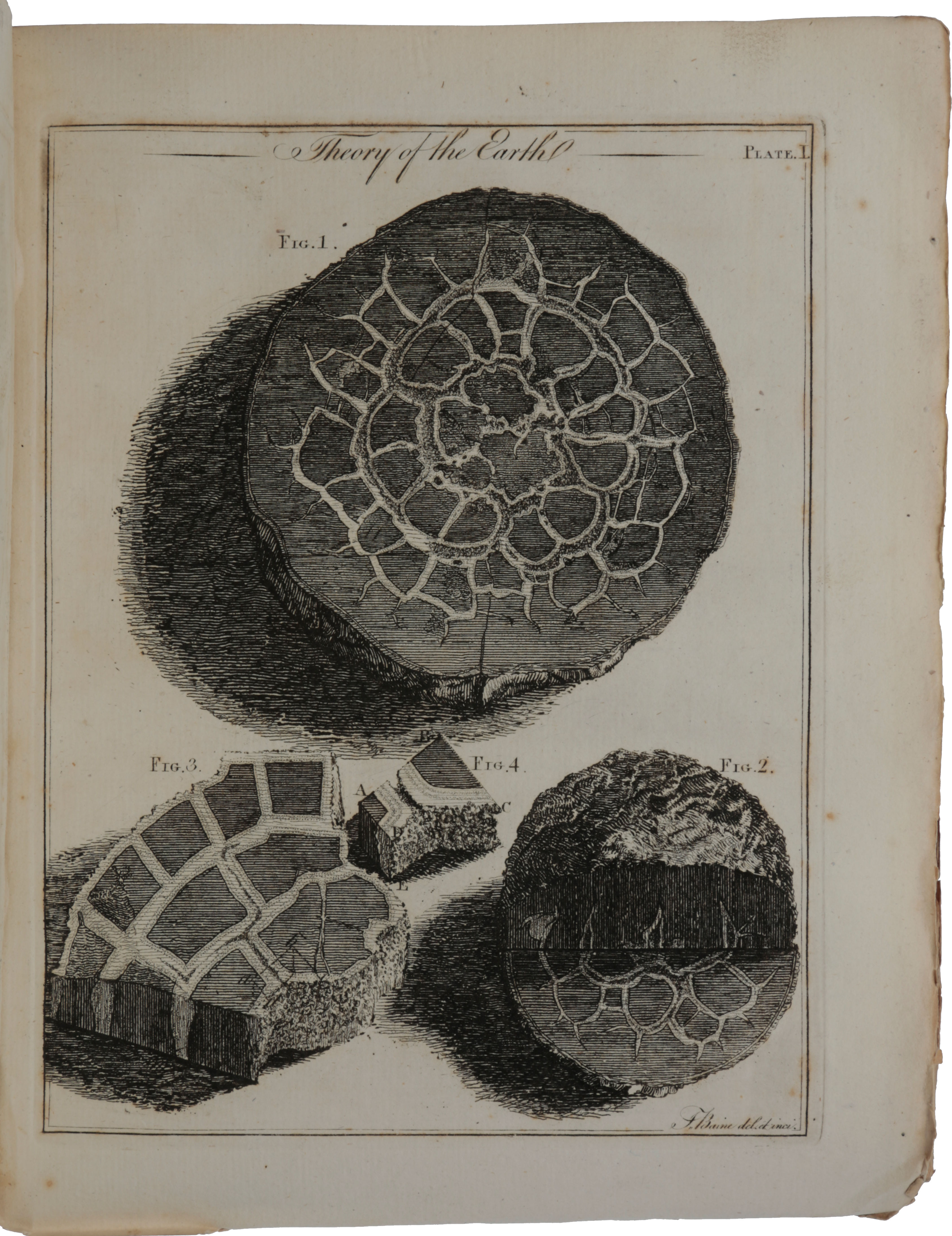 'Theory of the Earth; or an Investigation of the laws observable in the composition, dissolution, and restoration of land upon the globe… Read March 7 and April 4 1785,' in Transactions of the Royal Society of Edinburgh, 1788, Part II, pp. 209-304, with two engraved plates. James HUTTON.