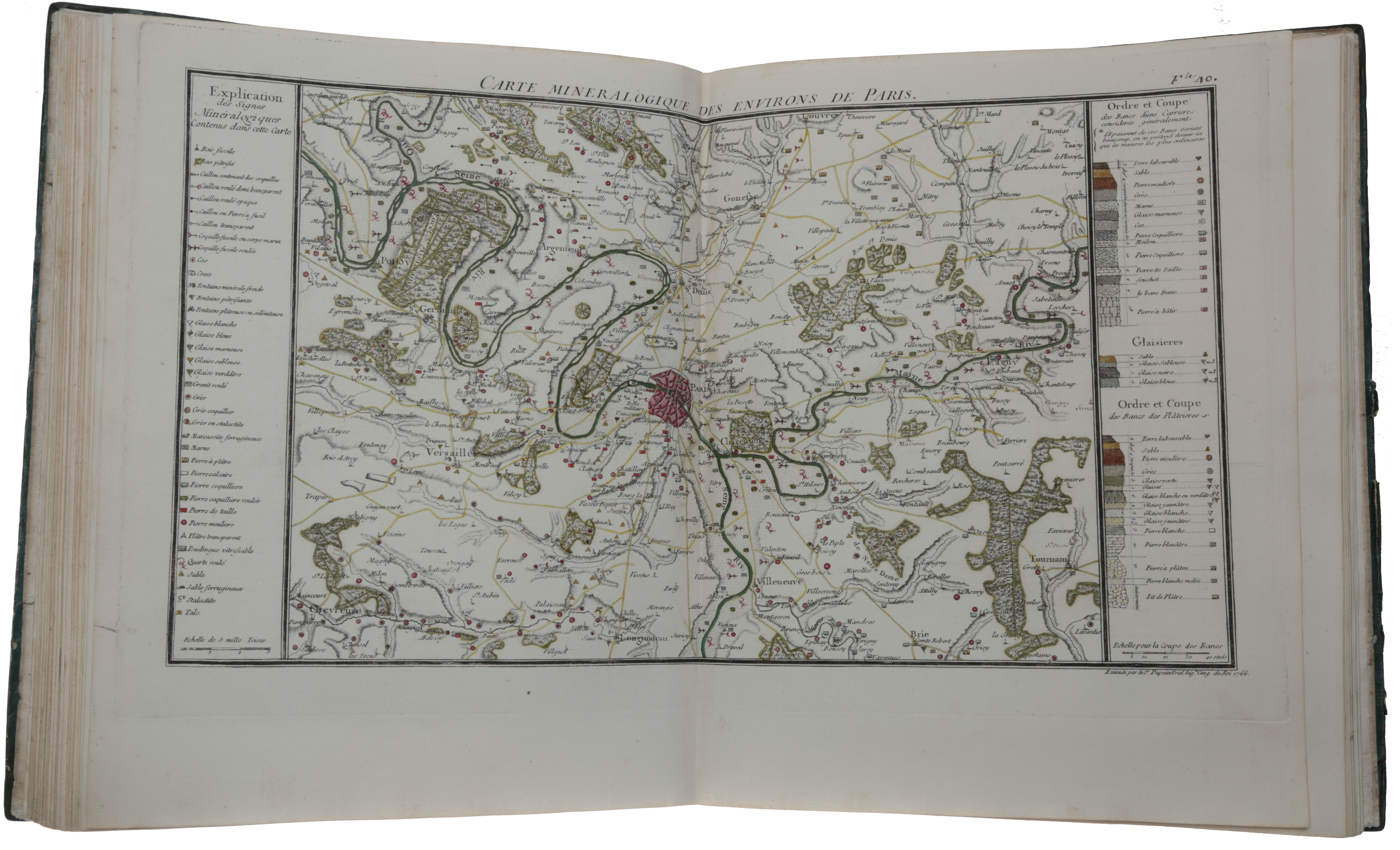 A collection of 33 hand-coloured mineralogical maps of France prepared for the first geological atlas. Antoine-Laurent LAVOISIER, Jean-Étienne GUETTARD, Antoine-Grimoald MONNET.