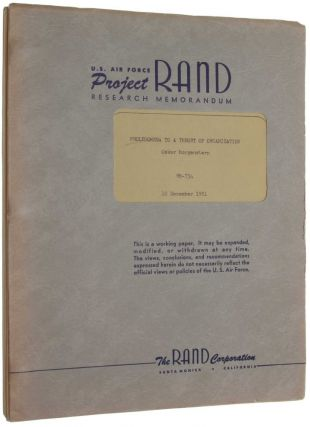 Prolegomena to a theory of organization. U.S. Air Force Project RAND report RM-734. Oskar...