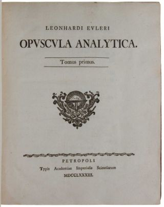 Opuscula Analytica.