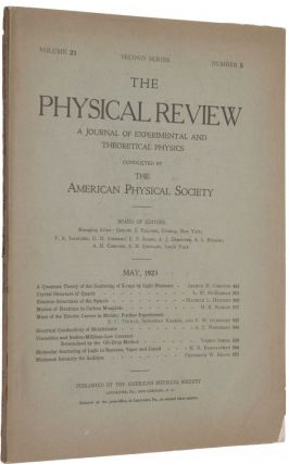 'A Quantum Theory of the Scattering of X-rays by Light Elements,' pp. 483-502 in Physical...
