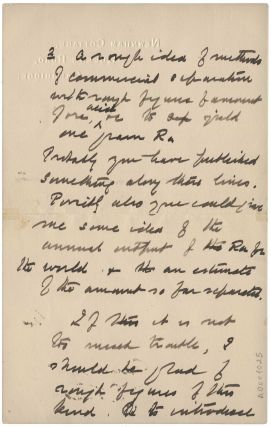 Autograph letter signed 'E Rutherford' to Charles Herman Viol, 8 January 1921. Three pages on two sheets.