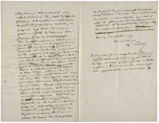 """Autograph letter signed (""""L. Pasteur""""), in French, Lille, 18 July, 1856, to Charles Alexandre Drion."""