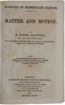Matter and Motion.