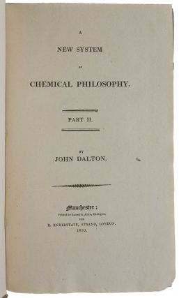 A New System of Chemical Philosophy.