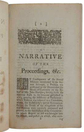 A Narrative of the Proceedings relative to the Discovery of the Longitude at Sea; by Mr. John Harrison's Time-Keeper; Subsequent to those published in the Year 1763.