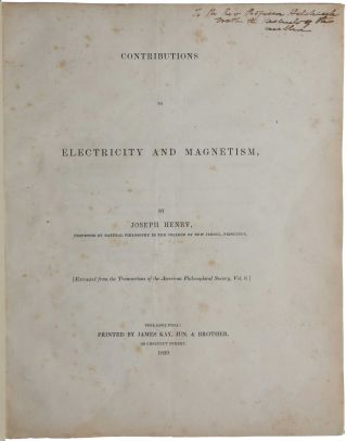 Contributions to Electricity and Magnetism. No. III. - On Electro-Dynamic Induction. Read Novemb....