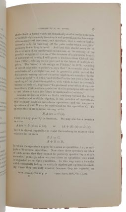 On multiple algebra: an address before the Section of Mathematics and Astronomy of the American Association for the Advancement of Science at the Buffalo meeting, August, 1886.