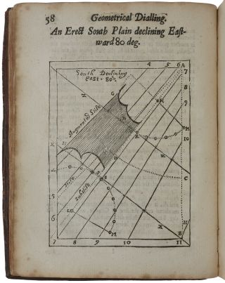 The art of dialling performed geometrically by scale and compasses: arithmetically, by the canons of sines and tangents: instrumentally, by a trigonal instrument, accommodated with lines for that purpose; The geometrical part whereof is performed by projecting of the sphere in plano, upon the plain it self, whereby not only the making, but the reason also of dials is discovered.
