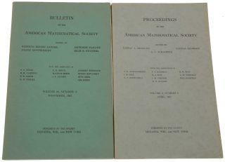 'Numerical Inverting of Matrices of High Order,' pp. 1021-1099 in Bulletin of the American Mathematical Society, Vol. 53, No. 11, November, 1947. [Offered with:] 'Numerical Inverting of Matrices of High Order II,' pp. 188-202 in Proceedings of the American Mathematical Society, Vol. 2, No. 2, April, 1951.