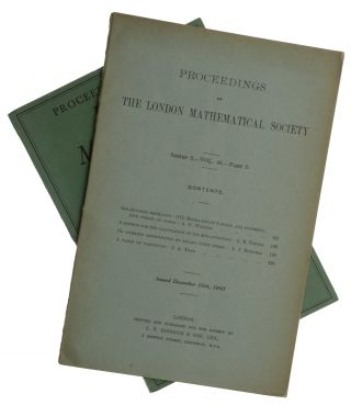 'A Method for the Calculation of the Zeta-Function', pp. 180-197 in Proceedings of the London...
