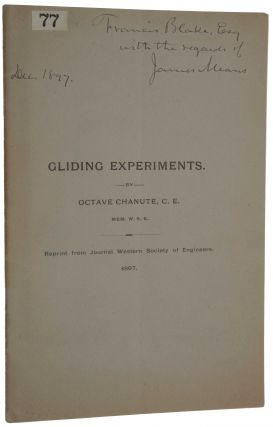 Gliding Experiments. Offprint from: Journal of the Western Society of Engineers, Vol. 2, No. 5,...