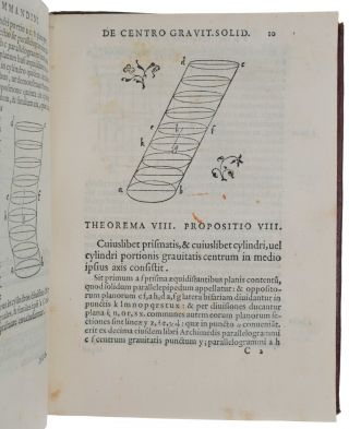 De iis quae vehuntur in aqua libri duo. A Federico Commandino Urbinate in pristinum nitorem restituti, et commentariis illustrati. [Bound with:] COMMANDINO. Liber de centro gravitatis solidorum.