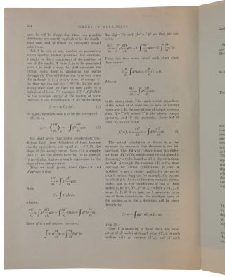 Forces in molecules. Offprint from: Physical Review, Second Series, Vol. 56, No. 4, August 15, 1939.