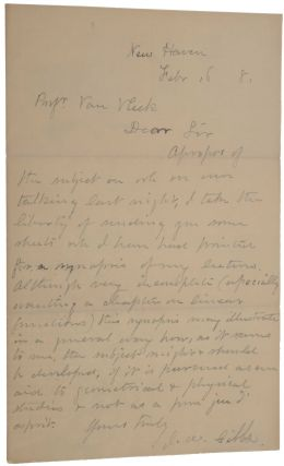 Elements of Vector Analysis. [Offered with:] Autograph letter from Gibbs to John Monroe Van Vleck.
