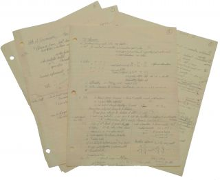 Autograph manuscript, unsigned, entitled 'Talk at Vancouver New Particles etc.' Vancouver,...