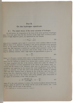 On the Quantum Theory of Line-Spectra, I-III.