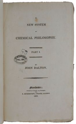 A new system of chemical philosophy, Vol. I, Part I & II.