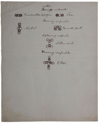 Atomic Symbols by John Dalton, explanatory of a Lecture given by him to the Members of the Manchester Mechanics' Institution, October 19th, 1835. Manuscript in contemporary (Dalton's?) hand.