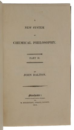 A new system of chemical philosophy. [Bound with:] On the Phosphates & Arseniates [and other essays].