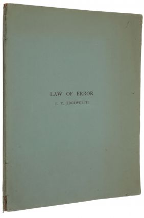 The law of error. Offprint from: Transactions of the Cambridge Philosophical Society, vol. 20,...