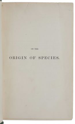 On the Origin of Species by Means of Natural Selection, or the Preservation of Favoured Races in the Struggle for Life.