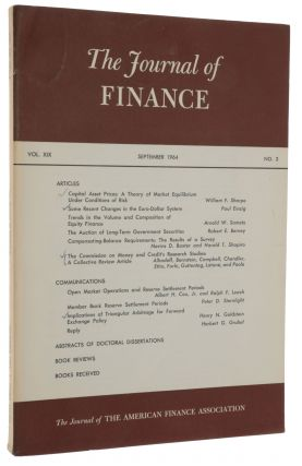 'Capital Asset Prices: A Theory of Market Equilibrium under Conditions of Risk,' pp. 425-442 in: The Journal of Finance, Vol. 19, No. 3, September 1964.