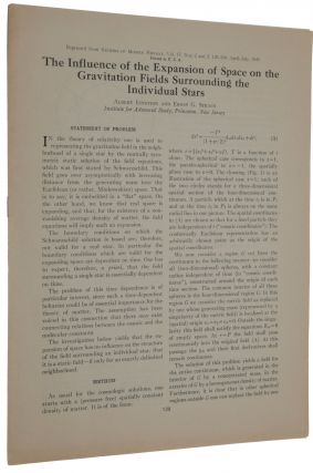 The Influence of the Expansion of Space on the Gravitation Fields Surrounding the Individual...