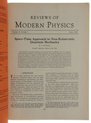 'Space-Time Approach to Non-Relativistic Quantum Mechanics,' pp. 367-387 in: Reviews of...