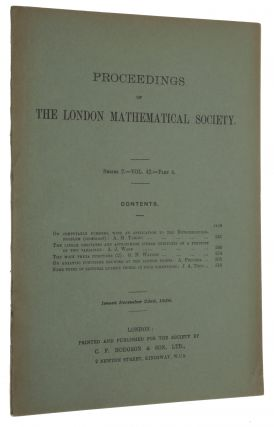 'On computable numbers, with an application to the Entscheidungsproblem,' pp. 230-265 in Proceedings of the London Mathematical Society, series 2, vol. 42, part 3, November 30, 1936 & part 4, December 23, 1936.