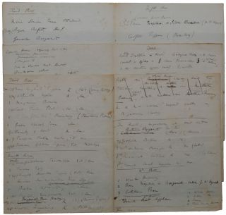 Autograph eleven-page manuscript on six leaves, listing the wide variety of trees and other plants in the grounds of Down House during 1844-1846 when extensive planting and landscaping took place.