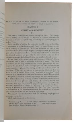 Mathematical Investigations in the Theory of Value and Prices. Offprint from: Transactions of the Connecticut Academy of Arts and Sciences, Vol. IX, Part I, July 1892.