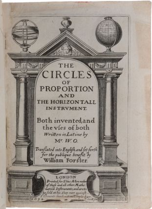 The circles of proportion and the horizontal instrument. The former shewing the manner how to work proportions both simple and compound: and the ready and easy resolving of questions both in arithmetic, geometrie, & astronomie...