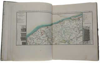 A collection of 33 hand-coloured mineralogical maps of France prepared for the first geological atlas.