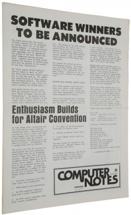 'An open letter to the hobbyists,' p. 3 in Computer Notes, Vol. 1, No. 9, February 1976.